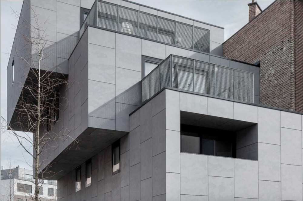 Architectural Facade Modern Materials