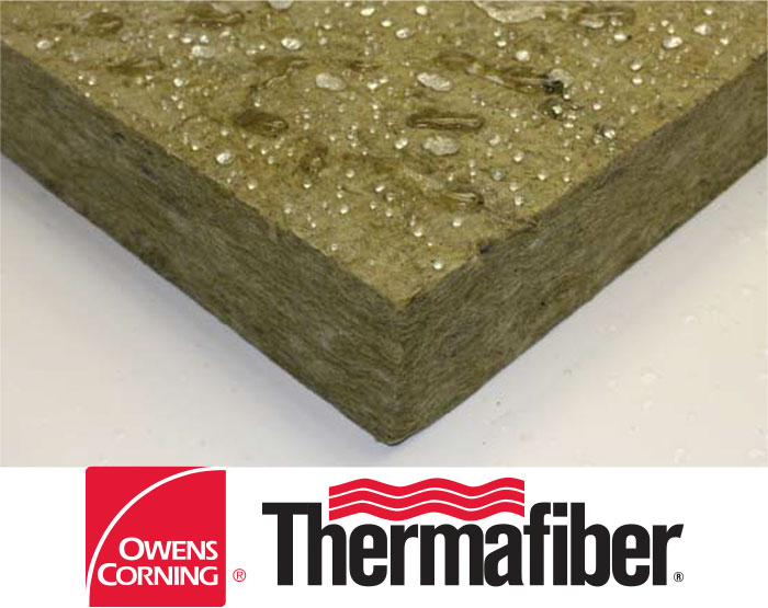 Thermafiber rainbarrier mineral wool insulation modern for Mineral wool density
