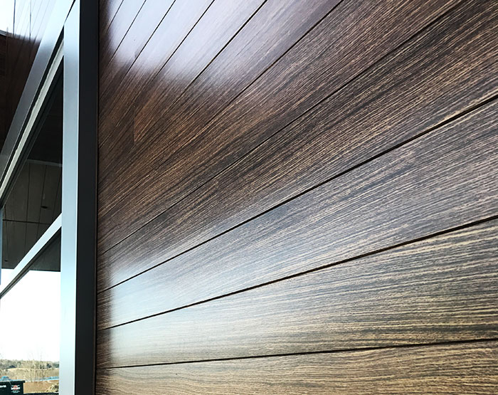 Dizal wood aluminum siding modern materials for Wood grain siding panels