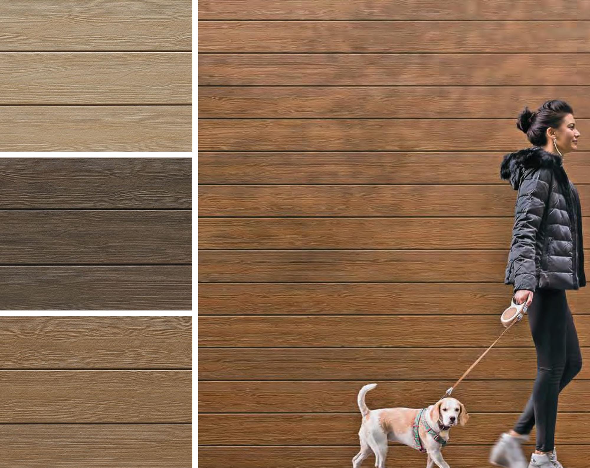 Ceraclad Urban Cedar Style Faux Wood Fiber Cement Façades